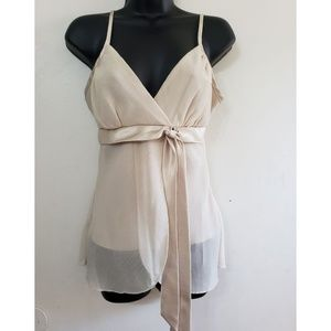 A.Byer champagne cami tank top Size medium i